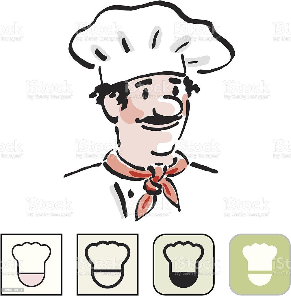 Chef icon set royalty-free stock vector art
