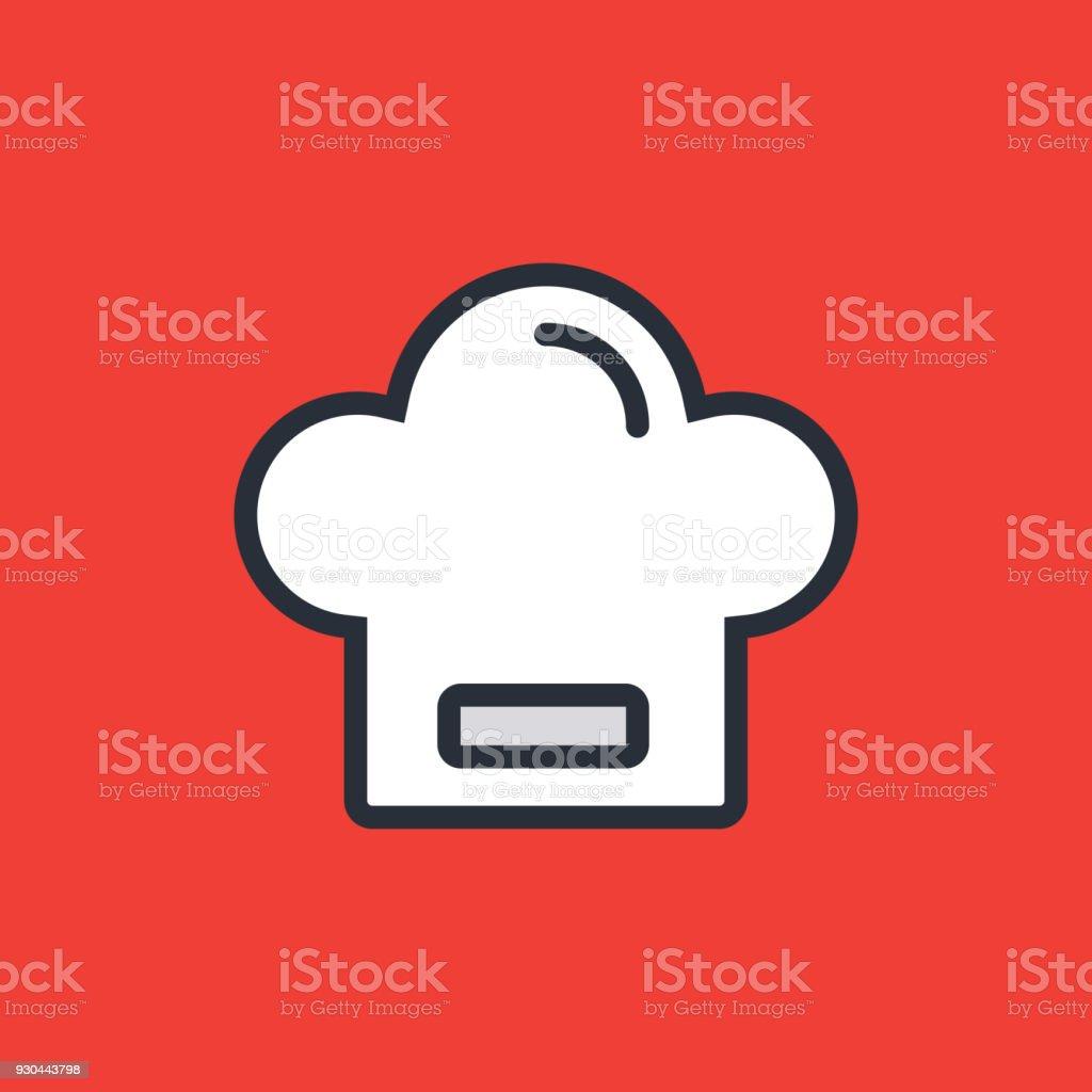 Le Chef icône - Illustration vectorielle