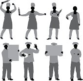 Chef in different poses