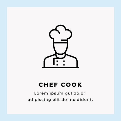 Chef Line Icon stock illustration