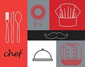 Chef linear icons