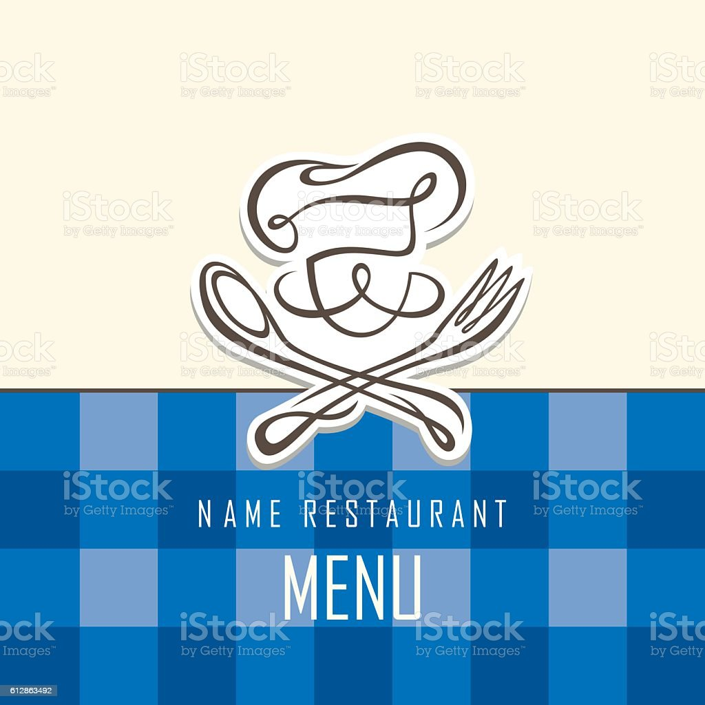 chef menu design vector art illustration