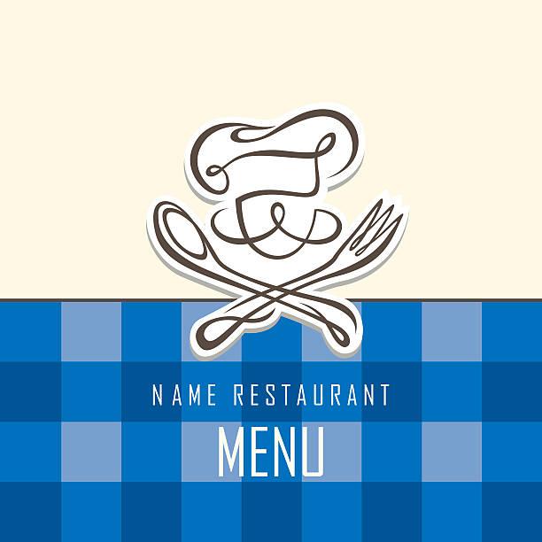 chef menu design - fine dining stock illustrations, clip art, cartoons, & icons
