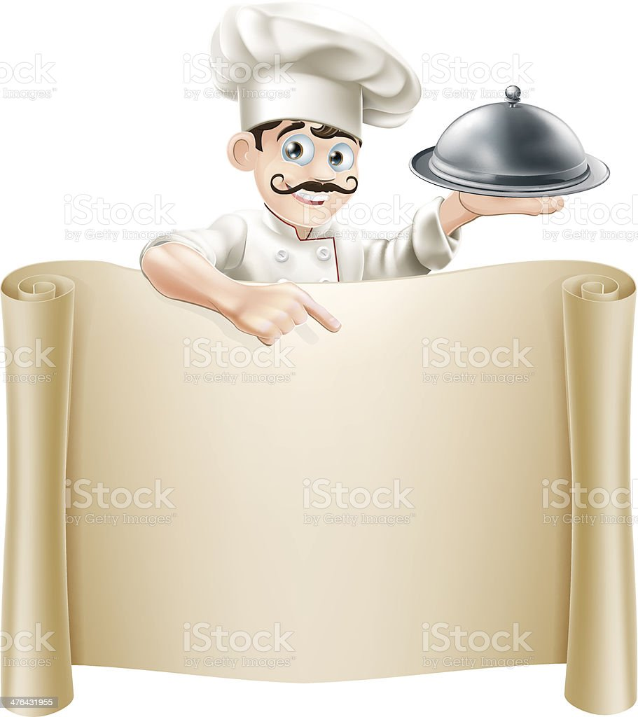 Chef Menu Scroll royalty-free chef menu scroll stock vector art & more images of adult