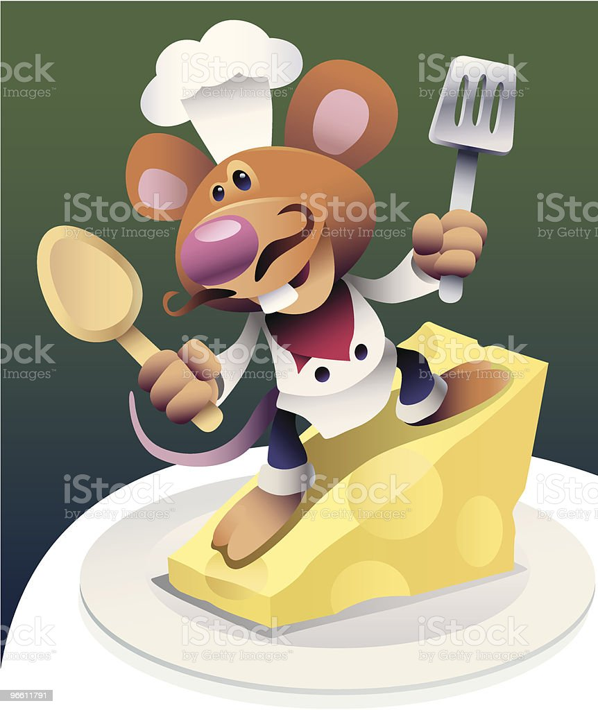 chef mouse - Royalty-free Animal Themes stock vector