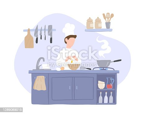 istock Chef Prepares Food in the Kitchen 1289089015