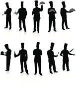 Chef Set Silhouettes