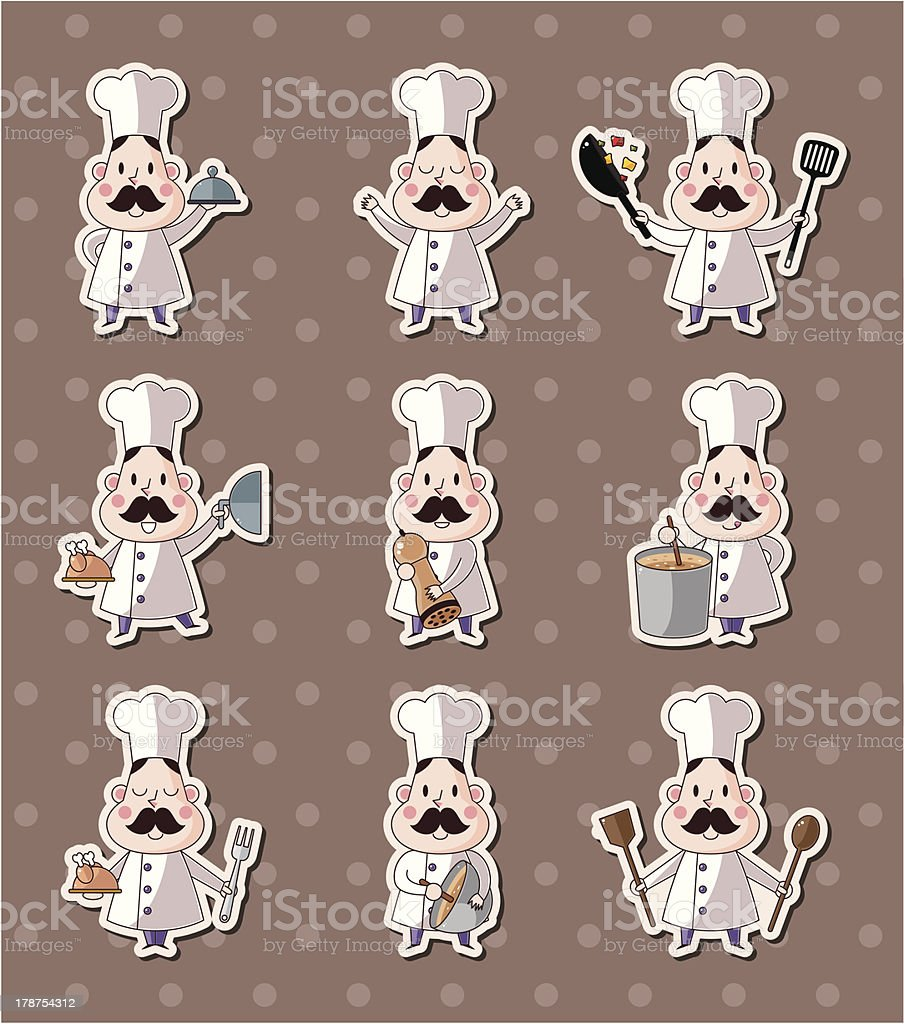 chef stickers royalty-free stock vector art
