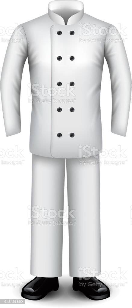 Chef Uniform Isolated On White Vector Royalty Free Stock