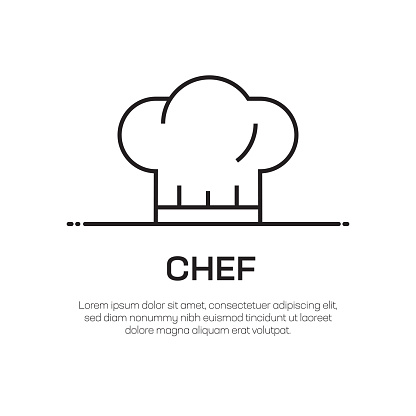 Chef Vector Line Icon - Simple Thin Line Icon, Premium Quality Design Element