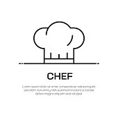 istock Chef Vector Line Icon - Simple Thin Line Icon, Premium Quality Design Element 1147316214