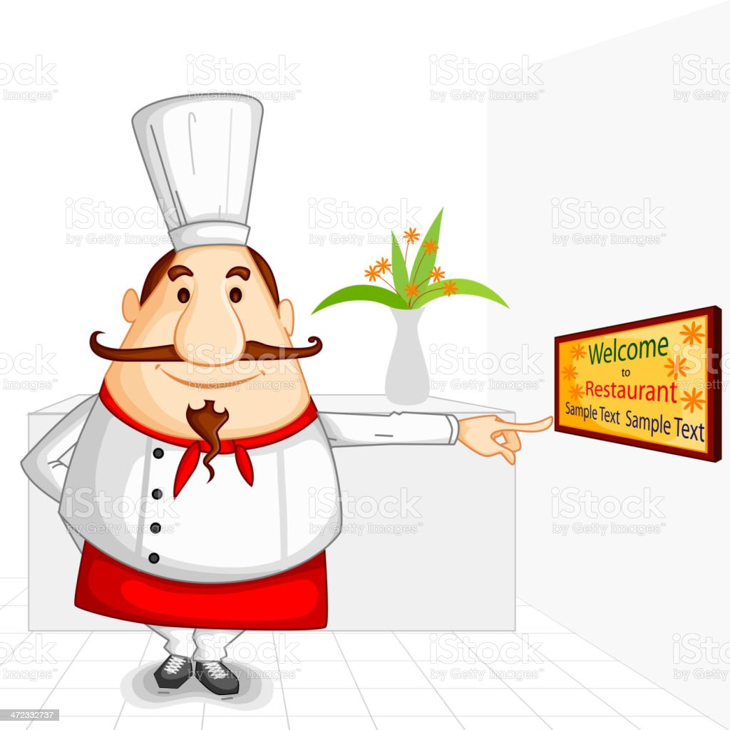 Chef welcoming in Restaurant royalty-free chef welcoming in restaurant stock vector art & more images of adult