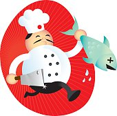 Chef with Fish