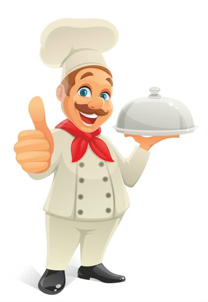 chef with thumb up - old man showing thumbs up cartoons stock illustrations, clip art, cartoons, & icons