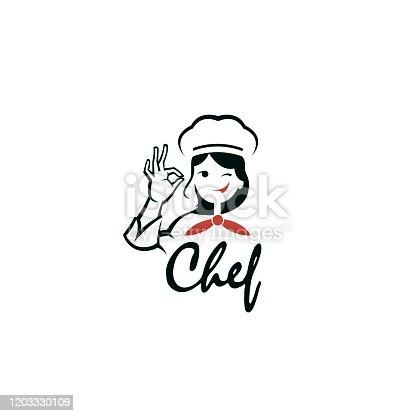 istock chef woman design 1203330109