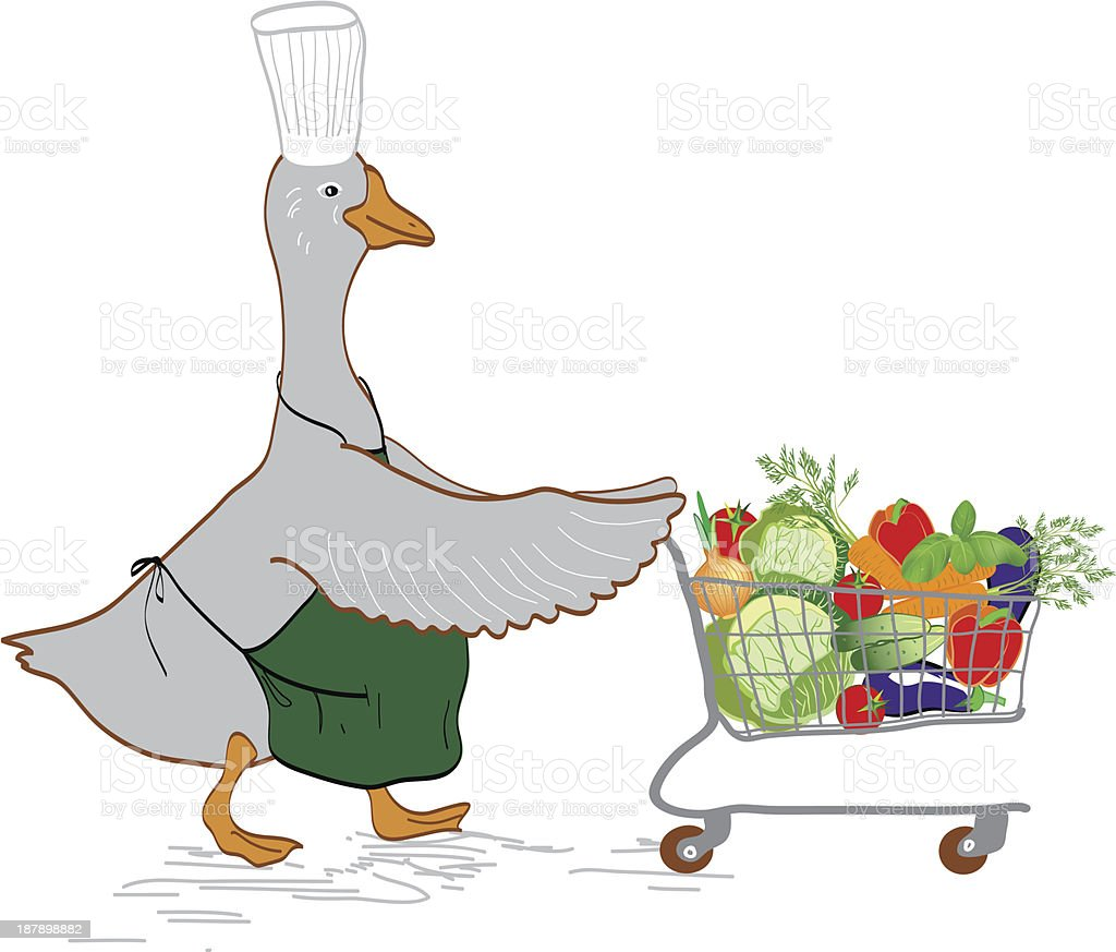 Chef-goose royalty-free stock vector art