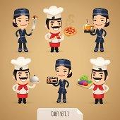 Chefs Cartoon Characters Set1.1