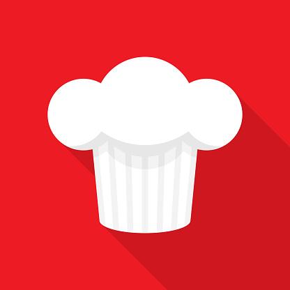 Chef's Hat Icon Flat