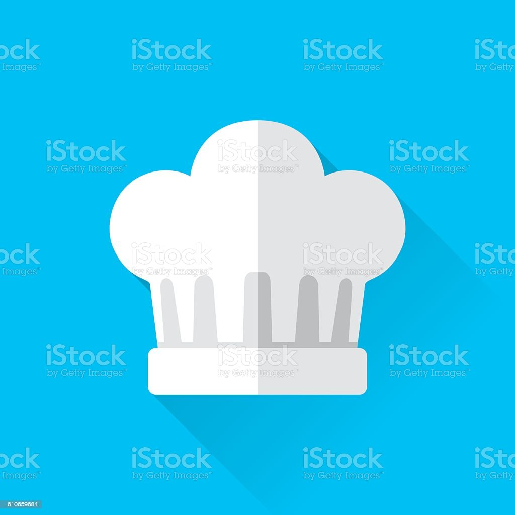 Chef's Hat Icon vector art illustration
