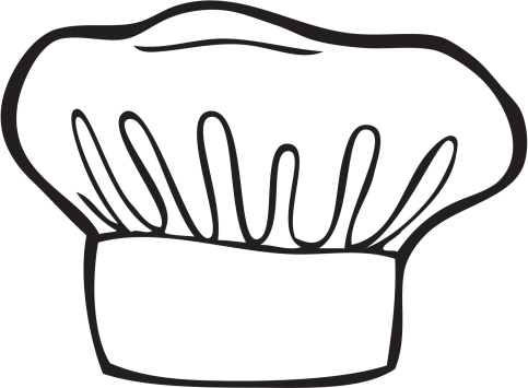 Chefs Hat Line Art Stock Illustration - Download Image Now