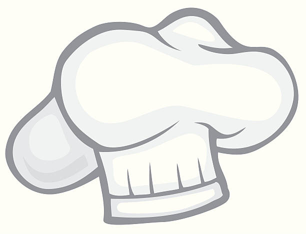 Chef's Hat Pillow Style Chef's Hat Pillow Style is part of a series on cooking illustrations. cooking clipart stock illustrations