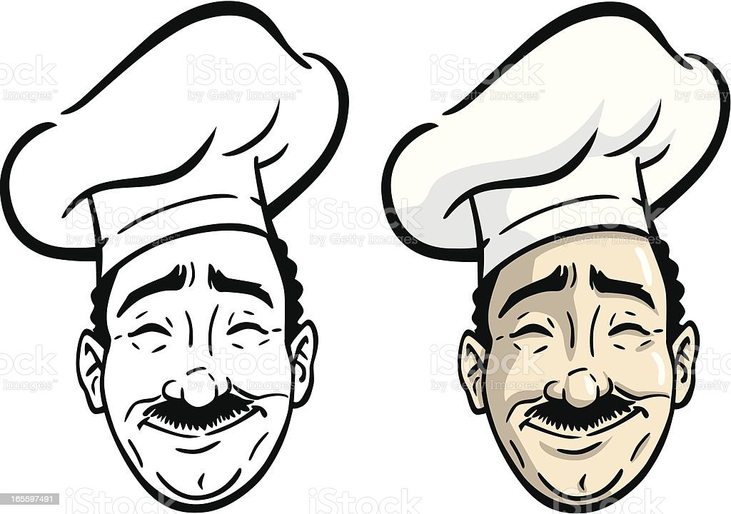 Chef's Head royalty-free chefs head stock vector art & more images of adult
