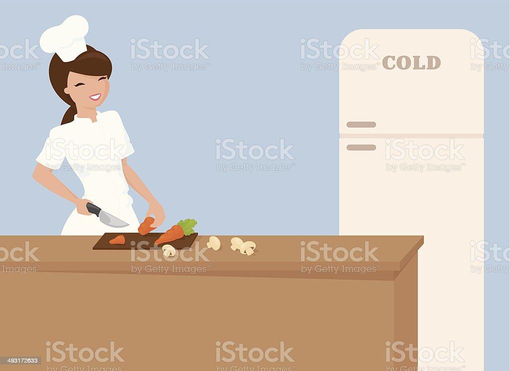 Chef's Preparation royalty-free stock vector art