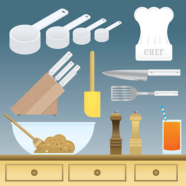 chefs stuff - mixing bowl stock illustrations, clip art, cartoons, & icons