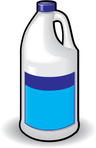 chemical bottle bleach - bleach stock illustrations