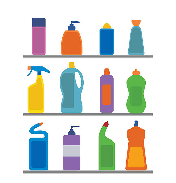 Cleaning bottles clip art - photo#49