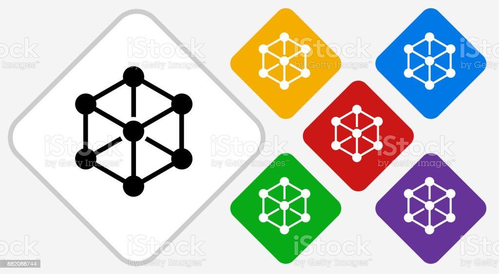 Chemical Compound Color Diamond Vector Icon Stock Vector Art More
