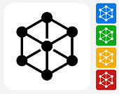 Chemical Compound Icon Flat Graphic Design