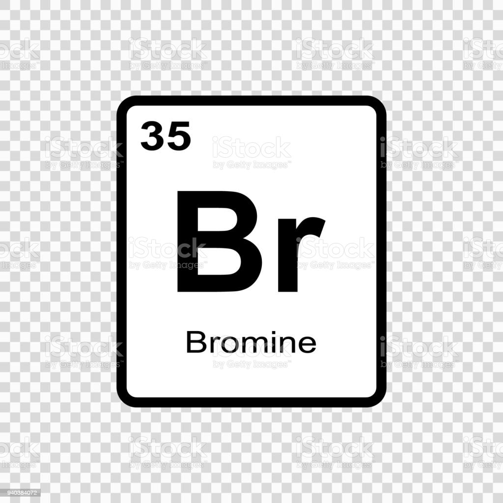 Chemical Element Bromine Stock Vector Art More Images Of Abstract