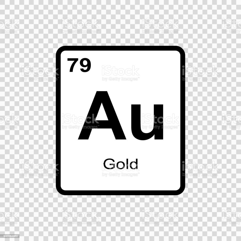 Chemical Element Gold Stock Vector Art More Images Of Abstract