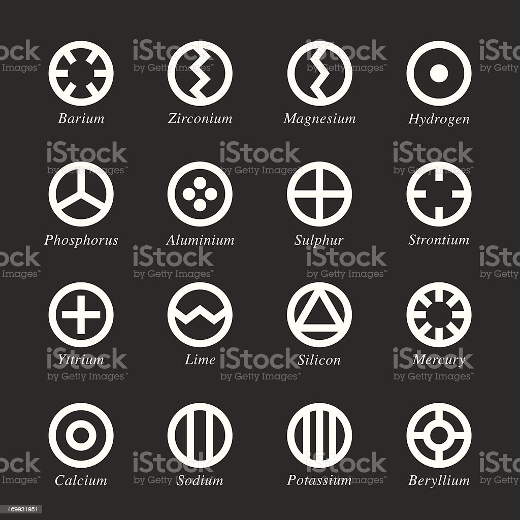 Chemical element icons set 1 white series stock vector art more chemical element icons set 1 white series royalty free chemical element icons set 1 biocorpaavc Images