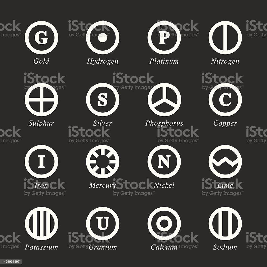 Chemical Element Icons Set 2 - White Series royalty-free chemical element icons set 2 white series stock vector art & more images of calcium