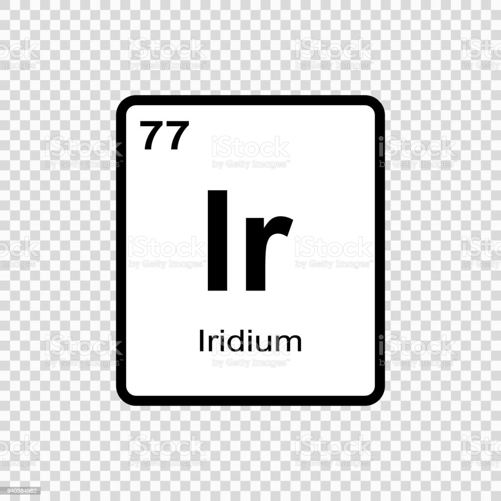 Chemical Element Iridium Stock Vector Art More Images Of Abstract
