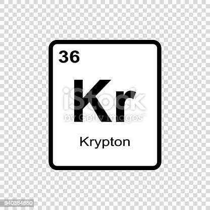 Chemical Element Krypton Stock Vector Art More Images Of Abstract