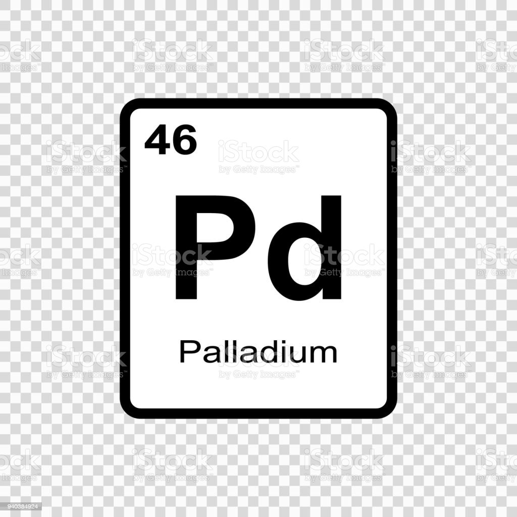 Chemical Element Palladium Stock Vector Art More Images Of