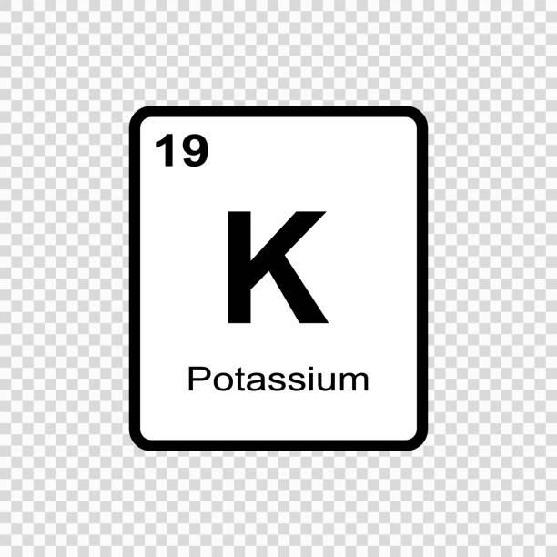 stockillustraties, clipart, cartoons en iconen met scheikundig element kalium - kalium
