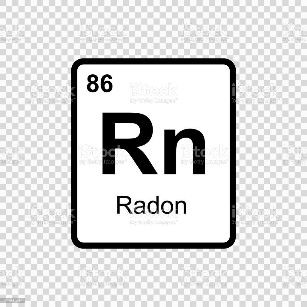 scheikundig element Radon - Royalty-free Abstract vectorkunst