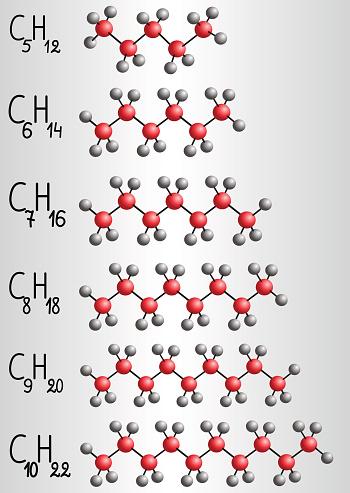 Ilustración De Modelo Fórmula Y La Molécula Química De La