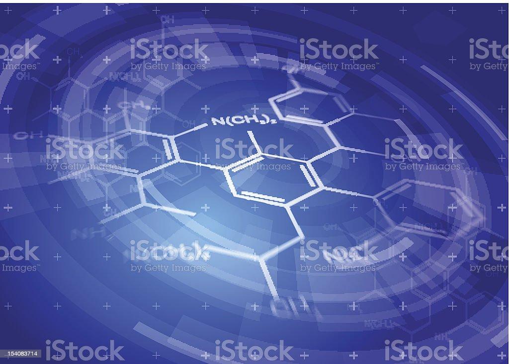 chemical formulas - DNA fragment royalty-free stock vector art