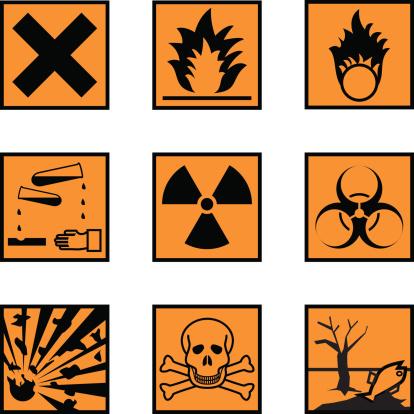 Chemical Hazard Labels (vector & jpeg)
