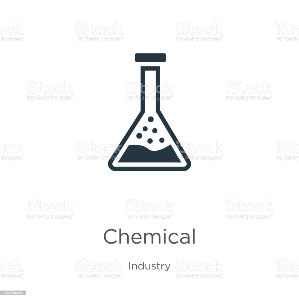 Chemical icon vector. Trendy flat chemical icon from industry...