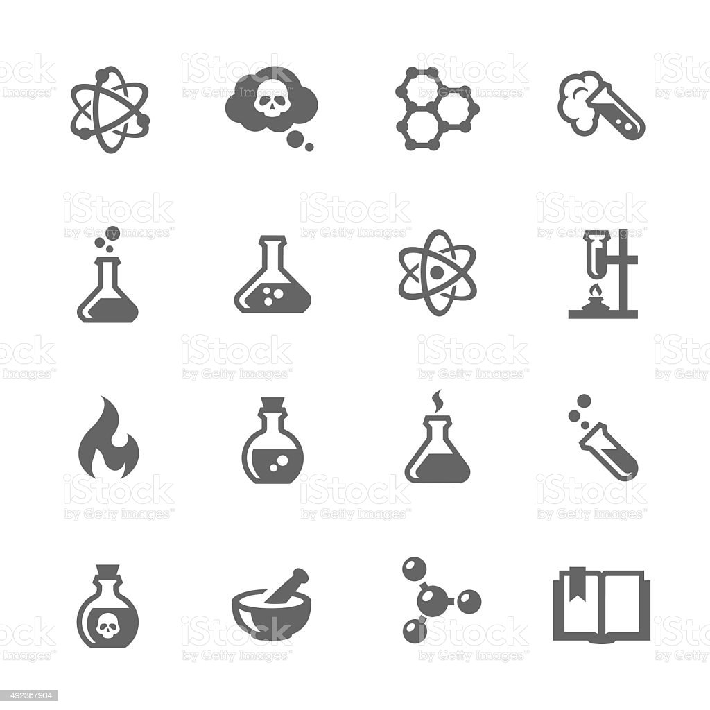 Chemical Icons vector art illustration