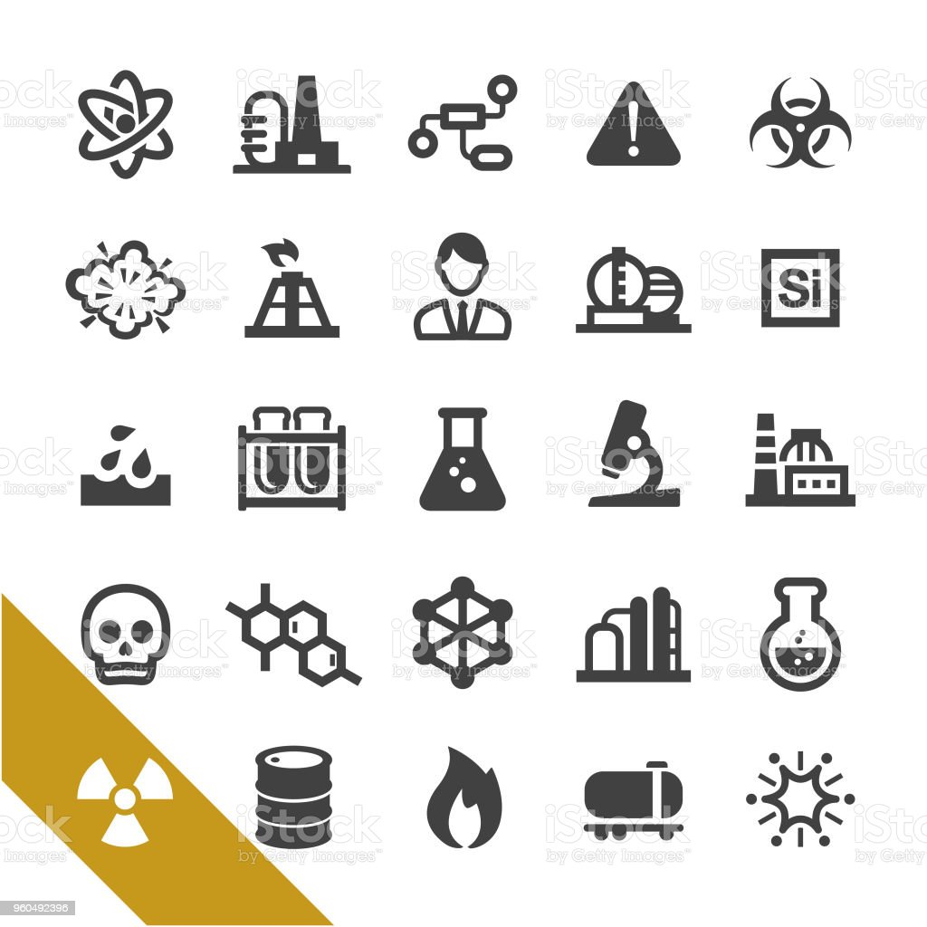 Chemical Industry Icons - Select Series vector art illustration