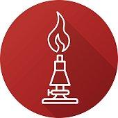 Chemical lab burner icon