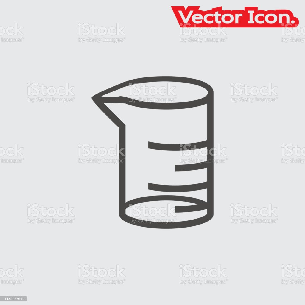 Chemical Lab Equipment Icon Isolated Sign Symbol And Flat Style For App Web  And Digital Design Stock Illustration - Download Image Now