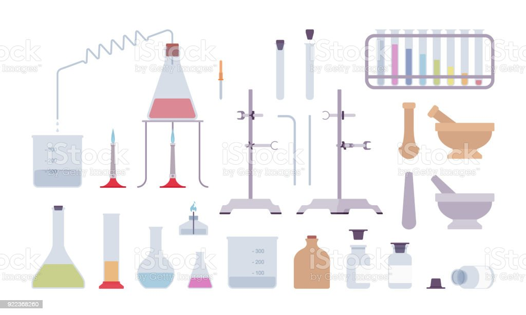 Chemical Laboratory Equipment And Instruments Royalty Free Stock Vector Art